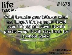 Definitely could use a more efficient way to save my lettuce