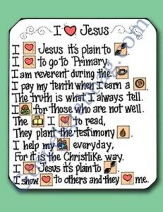 Showing Love For Jesus Christ Primary Lesson Helps 3 CTR B 36
