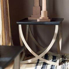 Felix Side Table, Low - Black/Natural