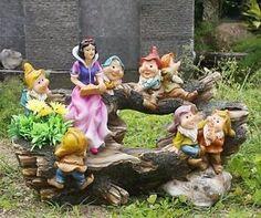 Schneewittchen mit 7 Zwerge Deko Zwerg Garten Gartenzwerg  13020 | eBay