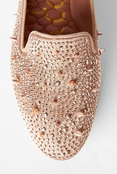 6a3203d25fb3 Sam Edelman Rose gold studded slippers - love those!!! Studded Loafers