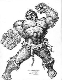 E285 hulk rage Comic Art