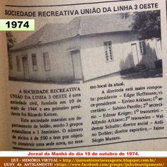 IJUÍ - RS - Memória Virtual: Sociedade Recreativa de Ijuí, em 1974.....