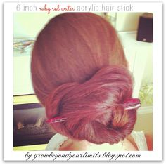 New In :  Eaduard Watercolour Acrylic Hairsticks Hair Stick Bun perfect for swimming and showering - it's waterproof!