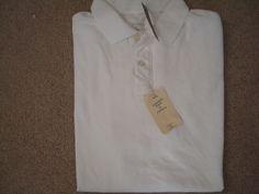 J CREW Men White Vintage Pique Polo Shirt Tailored Fit S, M, L