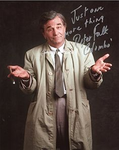 LIMITED EDITION PETER FALK COLUMBO SIGNED PHOTO + CERT PRINTED AUTOGRAPH SIGNATURE SIGNED SIGNIERT AUTOGRAM