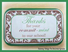 Sunny Days in Second Grade: Quick Secretary's Day Gift!
