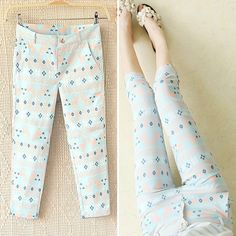 Summer fashion flower printed pants – Tepayi