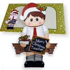 3D on the Shelf Card Kit - Little Christmas Schoolboy - Photo by Clear Cut…