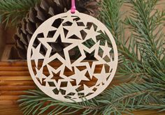 Star ornament Wood stars decoration personalize this rock star ornament