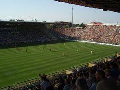 Interior Estadio Ennio Tardini, Parma, Italia. Capacidad 28.783 espectadores, Equipo local Parma FC.