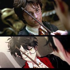 in movie and in anime style