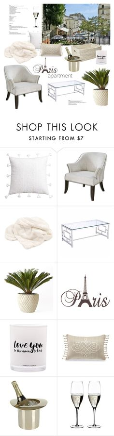 """""""Paris Apartment"""" by rever-de-paris ❤ liked on Polyvore featuring interior, interiors, interior design, home, home decor, interior decorating, cupcakes and cashmere, Howard Elliott, Zuo and Architectural Pottery"""