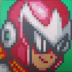 Red Robot Pixel Painting by pixelartpaintings on Etsy, $90.00