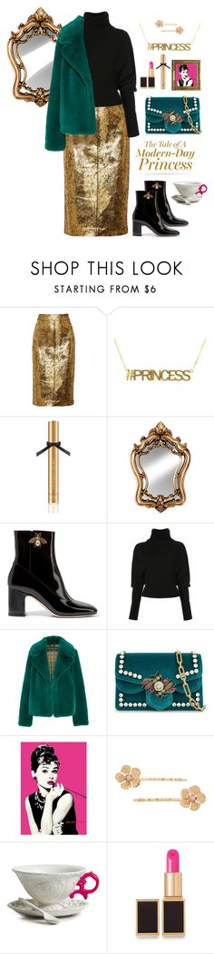 """If the Crown fits"" by ms-wednesday-addams ❤ liked on Polyvore featuring Raoul, Victoria's Secret, Gallery, Gucci, Creatures of the Wind, Burberry, LC Lauren Conrad, Seletti and Tom Ford"