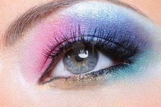 Pink,purple,blue & gold