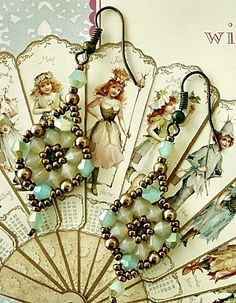 Linda's Crafty Inspirations: Bracelet of the Day: Double Diamond with Pearls