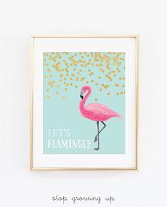 4eeed7b8c53 DIGITAL Let s Flamingle Party Printable