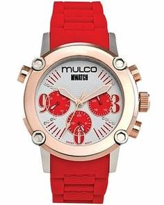 Mulco MW2-28050-061 Stainless Steel Chronograph Mwatch Collection red band Watch