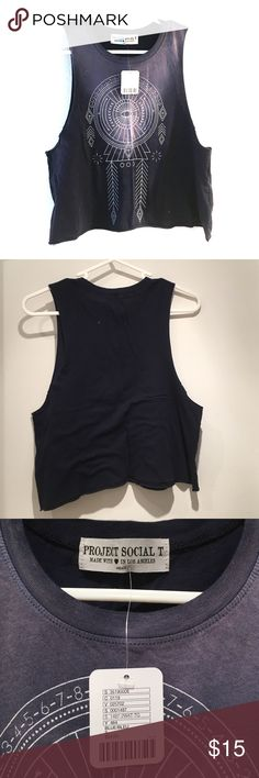 Urban Outfitters cropped cut T shirt. NWT Size SM Urban Outfitters cropped cut T shirt... Size SM NWT Urban Outfitters Tops Crop Tops