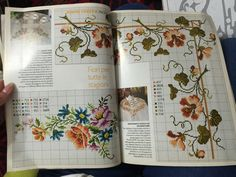 Bordura punto croce fiori