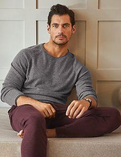 Pure Cashmere Slim Fit Pyjama Top, and stick him on my wish list too