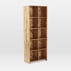 Patterned Crate Bookshelf #westelm