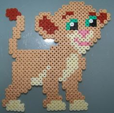 The Lion KIng Simba hama perler by Les loisirs de Pat