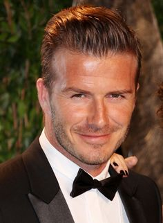 David Beckham Handsome Quiff Hairstyle with tidy 5 O'Clock shadow