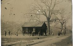 Photo of the Flying H Ranch. Charlie Bowdrie's Wedding. Billy The Kid left of Window. Yes, its real!