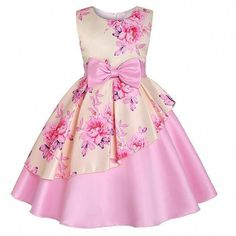 Kid Girl Cotton Butterfly Clothes Years Little Girls Sleeveless Floral Princess Dress Sundress Size 7 Years OldGirls Pink Floral Sateen Overlay Summer Party Dress - Find girls party dresses online from Divas Fashions for your wedding party.M-Sea Girl African Dresses For Kids, Toddler Girl Dresses, Little Girl Dresses, Girls Dresses, Toddler Girls, Baby Girls, Toddler Formal Dresses, Girls Fit, Find Girls