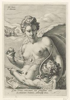 Venus en Amor, Jan Saenredam, Cornelius Schonaeus, 1575 - 1607