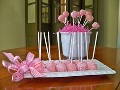 Cake Pop Holder Ideas | One way is to let the cake part