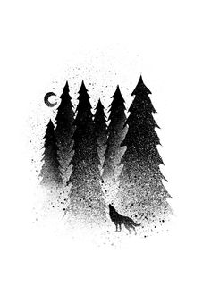Check out this awesome 'secret+forest' design on Forest Tattoos, Nature Tattoos, Body Art Tattoos, 16 Tattoo, Cover Tattoo, Dotted Drawings, Cool Drawings, Poster S, Poster Prints