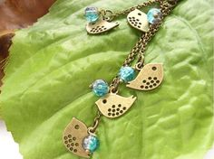 Little bronze birds purse handbag bag charm by BlueForestJewellery, $24.00