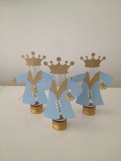 Tubete Principe Baby Shower Crafts, Baby Shower Favors, Baby Shower Themes, Prince Birthday Party, 1st Birthday Parties, Little Prince Party, Princess Party, First Year Birthday, The Petit Prince