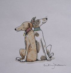 Anita Jeram has original watercolour and ink illustrations for sale. We deliver anywhere in the UK. Watercolor Cat, Watercolor Animals, Watercolor Paintings, Ink Illustrations, Children's Book Illustration, Animal Drawings, Art Drawings, Anita Jeram, Dog Paintings