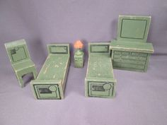 """Jaymar """"Happy Hour Doll House Furniture"""" - 25 Pieces - 3/4"""" Scale.."""