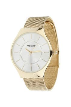 Gold mesh strap watch Topshop £30.00