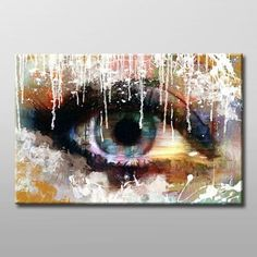 Blue eye modern abstract. Hand painted oil on canvas. $32.50