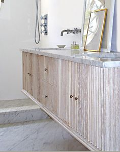 Betsy Brown's master bath vanity by Bates Corkern