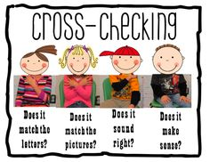 Cross-checking during Read to Self and Read to Someone.