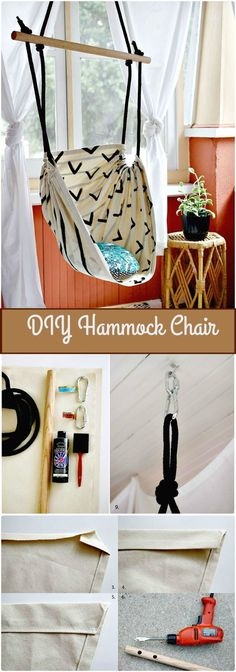 DIY Hammock Chair - 240 Easy Craft Ideas to Make and Sell - Page 2 of 24 - DIY & Crafts #ChairDIY #diycraftstosell