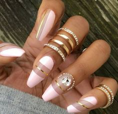 Here are 8 Beautiful Nails That You Need Right Now. These nails will inspire you to get a new manicure right away. Or if you fancy, give yourself some DIY action to make your nails pretty on your very own. We hope you enjoy these nails! Stiletto Nail Art, Coffin Nails, Nail Nail, Nail Glue, Pink Coffin, Acrylic Nails, Nail Polish, Acrylic Art, Pretty Nail Designs