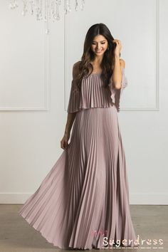 Shop the Candace Pleated Off the Shoulder Maxi Dress - boutique clothing featuring fresh, feminine and affordable styles. Cute Maxi Dress, Perfect Prom Dress, Cute Dresses, Prom Dresses, Summer Dresses, Awesome Dresses, Outfit Summer, Dress Long, Pleated Dresses