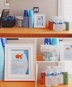 Fish theme birthday party or baby shower