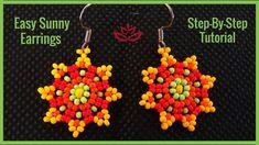 Sunny Seed Bead Earrings - Tutorial