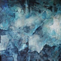 "Aga Osak ""Great  Blue"" 110x110cm, relief, abstract"