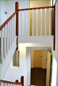 Rowangate Staircase Timber Handrail, Stair Spindles, Banisters, Newel Posts, Glass Panels, Case Study, Stairs, Natural, Home Decor