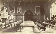 Eaton Hall. The Dining Room | Flickr - Photo Sharing! Victorian Hall, Victorian Castle, Eaton Hall, English Interior, Classic Interior, Cheshire England, English Castles, English House, Grand Homes
